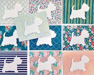 Westie Dog Blank Cards 10PK Set Decor Gift 3 West Highland White Terrier New