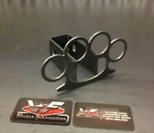 "Brass Knuckles Hitch Cover - 1/8"" Steel - Tow Towing Reese Custom"