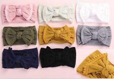 Trim Edge Soft Cable Knit Baby Headband Nylon Soft Bow Turban Top Knot Headband