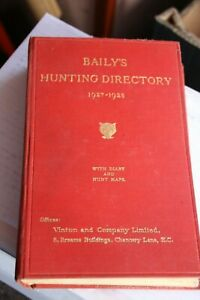 Baily's Hunting Book  Directory 1927-1928.Fox. Hunt. Buttons. Otter. Harrier.