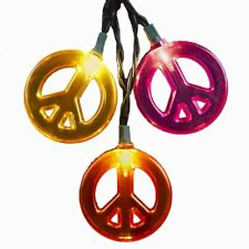 Kurt Adler 10/L Multi-Color Peace Sign Light Set