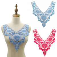 Flower Applique Lace Collar Trim Embroidered Neckline Sewing Dress Patches   DIY
