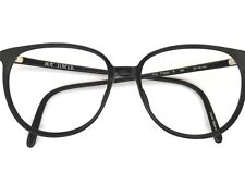 Vintage Oversized Black Preppy Mod Hip Eyeglasses Frame 57-16-140 Roy