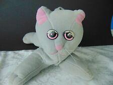 Pound Purries Cat Tonka Vintage 1985  Purrries Cat Kitten Plush Grey Gray