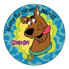 Scooby Doo Personalised Edible Kids Party Cake Decoration Topper Round Image
