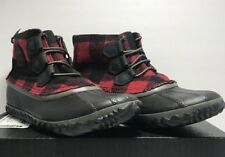 Sorel Womens Size 7 Out N About Waterproof Shoes Fashion Boots Red Black Plaid