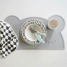 Grey Non Slip Silicone BEAR Tablemats Easy Clean Food Mat Multi-purpose Kids UK