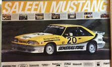 NOS  FORD Mustang R Saleen Racing/RACE POSTER 1985-92 SCCA #20 Fox Body History