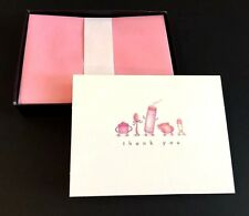 New 10 Hallmark ~ Cute Baby Thank You Note Cards ~ Pink Envelopes