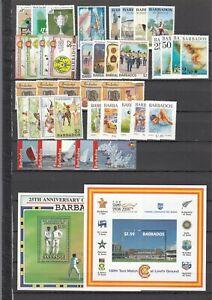BARBADOS, 1983/2000 Lot mit Marken und Blocks **, (33831)