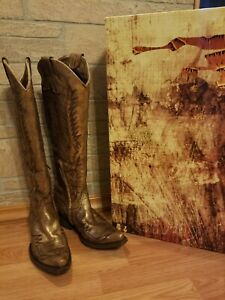 """Old Gringo Women's Mayra Bis 18"""" Gold Leather Boots 6B"""