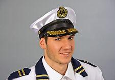 Kapitänsmütze Kapitän Seemann Karneval Matrose Mütze Uniform Motto Party weiß 60