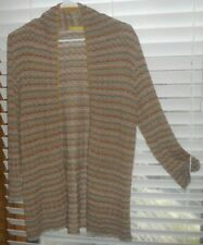 Catherine Andre France ~ Art to Wear ~ Long Tunic Openfront Cardigan Sweater ~ S