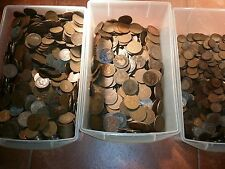 500 coins british Pennies halfpennies farthings very old mixt lot 500 coins