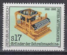 Österreich Austria 1993 ** Mi.2088 Mitterhofer Schreibmaschine Typewriter