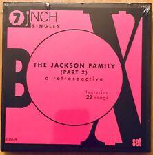 "The Jackson Family Part 2 Retrospective 7"" Vinyl Box Set Rare Sealed Janet MJ"