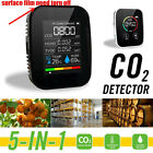 5IN1 CO2 Monitor Meter Air Quality Digital Temperature Humidity Detector Tool