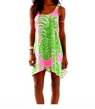 NWT Lilly Pulitzer Monterey Tank Dress Pink Pout Flamenco Pineapple GreenXL