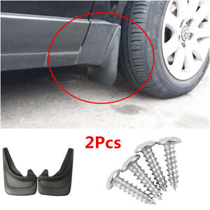 2Pcs Universal Car Mud Flaps Splash Guards Mudflaps Mudgurads Fender ABS Plastic