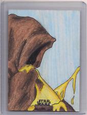 2020 TOPPS Mandalorian Star Wars Sketch CARD Desiree Rodrigue JAWA EATING EGG!