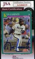 Ken Caminiti 1991 Score Jsa Coa Hand Signed Authentic Autograph