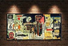 "Jean Michel Basquiat ""Notary"" HD print on canvas large wall picture 55x28"""