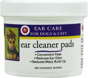 R7 Miracle Pet Ear Cleaner pads cleaning pad dog cat reduces odor removes wax 90