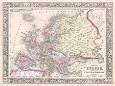 1864 MITCHELL MAP EUROPE VINTAGE REPRO POSTER ART PRINT 2946PYLV