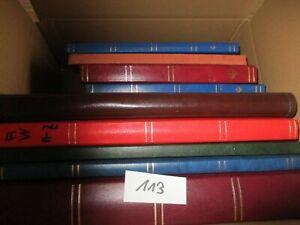 ALBEN-Karton, 9 St.  einige leer, andere gut gefüllt von D bis Alle Welt !