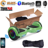 """6.5"""" Bluetooth Hoverboard LED Self Balancing Scooter W/ Bag Green Birthday Gift"""