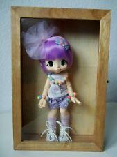 Puppenvitrine , 30 cm - Aufbewahrungsbox aus echtem Holz, geölt, mit Glas