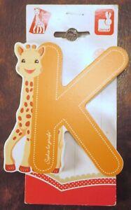 "NEW JANOD JURATOYS 2014 Wooden Alphabet ""K"" SOPHIE LA GIRAFE #9555"