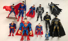 Superman And Batman Assorted Action Figure Figurine Lot Of 11 DC Comics