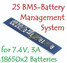 E124 BMS 2S PCM 18650 Battery Charging Protection board for Lipo 3A 7.8v Li-ion