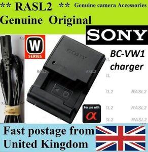Genuine Original SONY Charger BC-VW1 NP-FW50 Alpha NEX- F3 C3 3NL A7r A7r Mark 2