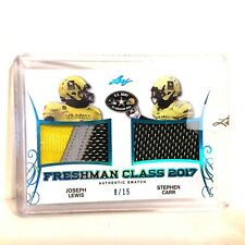 Joseph Lewis Stephen Carr 2017 Leaf US Army 08/15 Freshman Class Game Patch USC