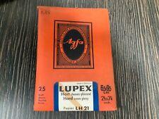 Agfa Lupex LH 21 Fotopapier, 25 Blatt 6,5 x 9,5 cm, chamois glänzend, hart, OVP