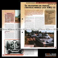 #vm035.02-03 ★ AMX 13 1956 TRANPORT TROUPE CHENILLE ★ Fiche Véhicule Militaire