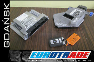 BMW E65 750i N62 SET ENGINE UNIT ECU MOTORSTEUERGERAT EWS KEY 0261209093 7566706