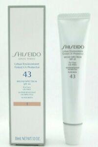Shiseido Urban Environment Tinted UV Protector SPF 43 # 1 30 ml./1.1 oz. NIB