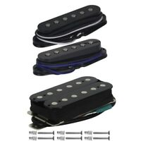 FLEOR 3PCS HSS Alnico 5 Single Coil Neck + Middle Humbucker Bridge Guitar Pickup