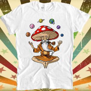 Magic Mushroom Buddha Yoga Planets Solar Cool Top Tee T Shirt 3031