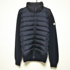Auth MONCLER MAGLIONE TRICOT CARDIGAN Dark Navy Down Mens Down Jacket # L