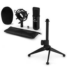 auna USB Kondensator Studio Mikrofon Set Spinne Tischständer Tasche schwarz