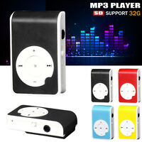 USB Practical Mini Clip MP3 Player Digital Music Media 32GB Micro SD TF Card UK