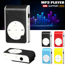 USB Practical Mini Mp3 Lettore Digitale Music Media 32GB MICRO SD TF Scheda UK