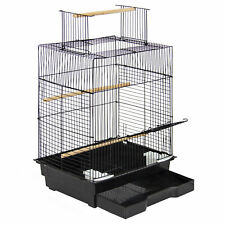 "Bcp 24"" Bird Cage w/ Open Play Top - Black"