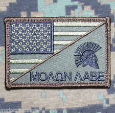 MOLON LABE SPARTAN USA AMERICAN FLAG US ARMY MORALE TACTICAL FOREST HOOK PATCH