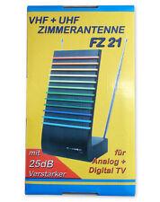 Fernseh-Zimmerantenne regelbarem Verstärker Gewinn: 25dB UHF, 20dB VHF