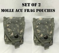 MOLLE ACU RIFLEMAN GRENADE FRAG POUCH US MILITARY ARMY ACU DIGITAL CAMO LOT of 2